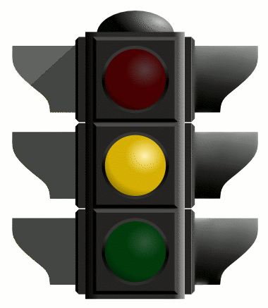 Image result for yellow traffic light
