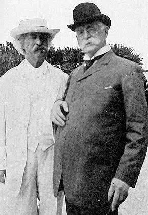 Марк Твен и Генри Роджерс. 1908 год