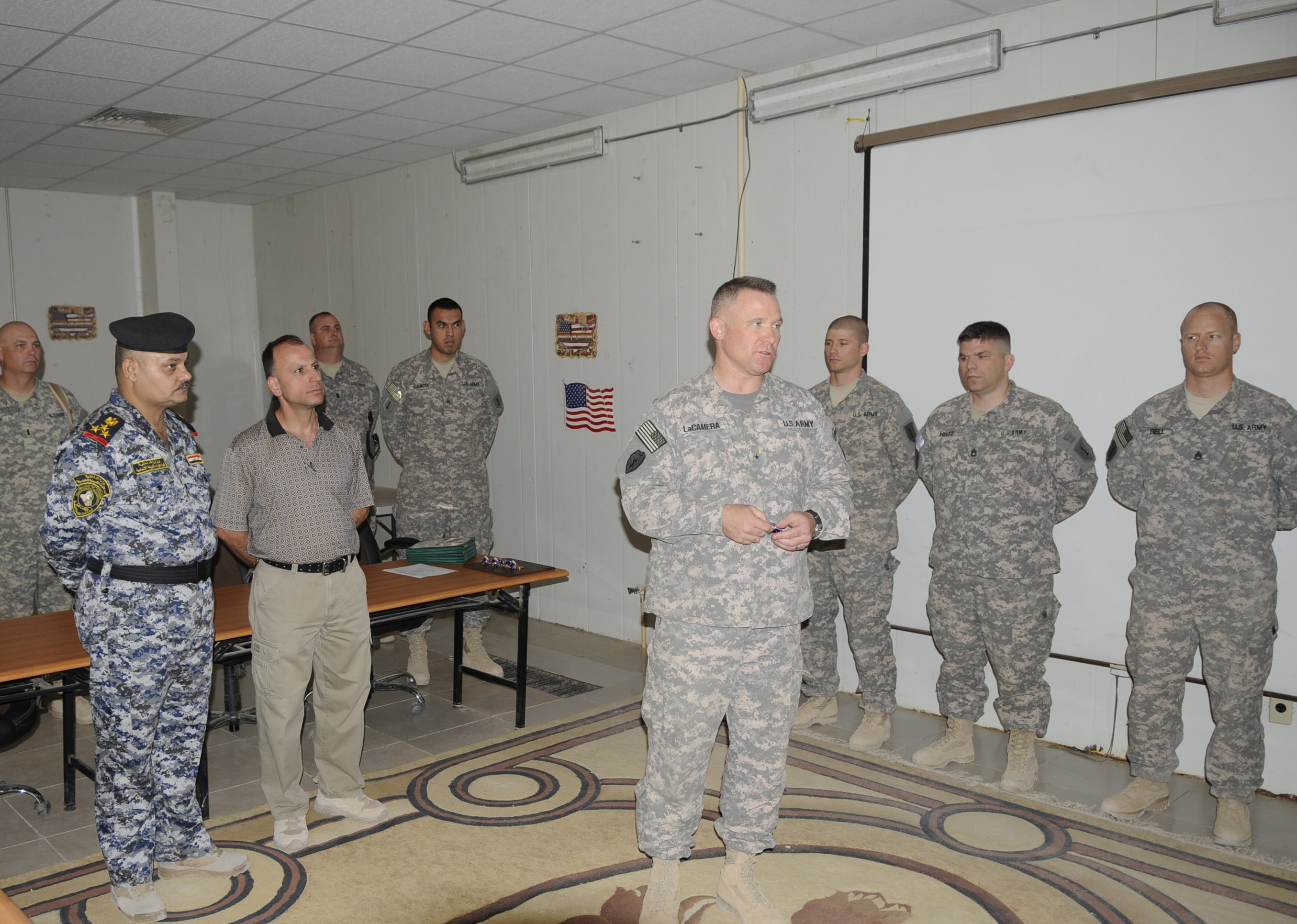 File U S Army Brig Gen Paul J Lacamera Speaks During A