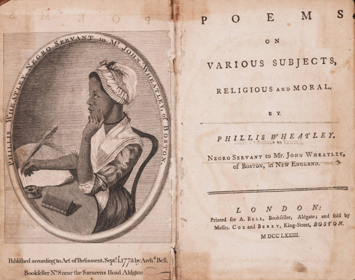 Phillis Wheatley (1753-1784): Poems on various subjects, religious and moral