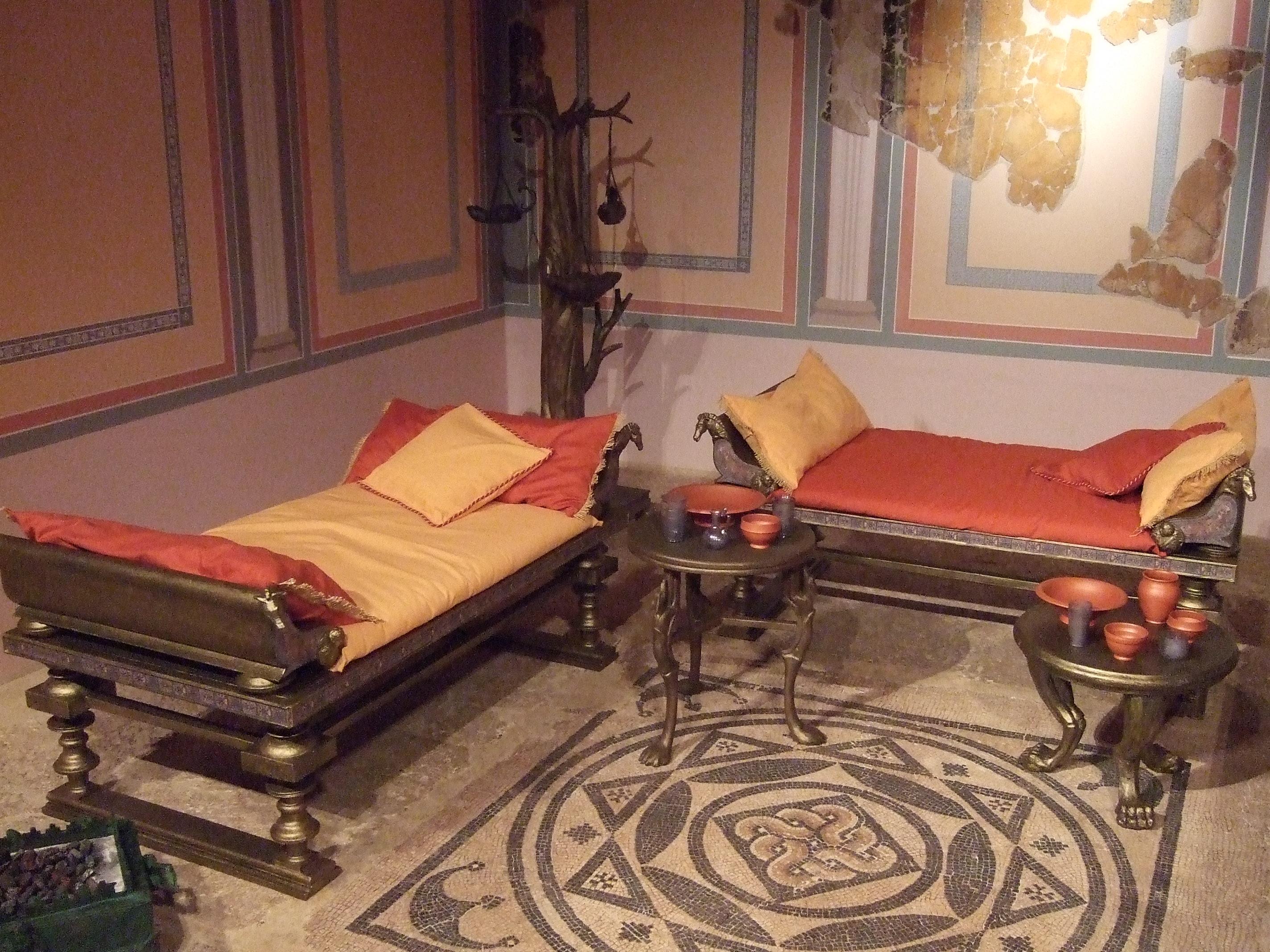Descrizione Zaragoza Museo Triclinio De La Calle Añón 02.jpg #9C692F 2848 2136 Sala Da Pranzo Del Convento Sinonimo