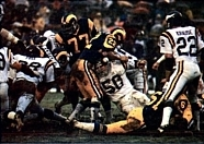 The Rams playing against the Vikings in the 1977 NFC Divisional Playoffs.