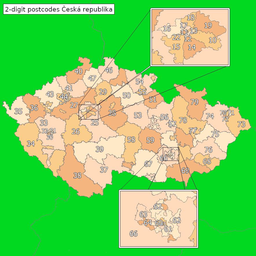 Postal Codes In The Czech Republic Wikipedia