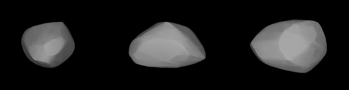 Darstellung der Form des Asteroiden Apophis