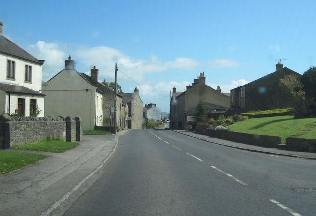 A684 eastbound through West Witton village (geograph 2960760)