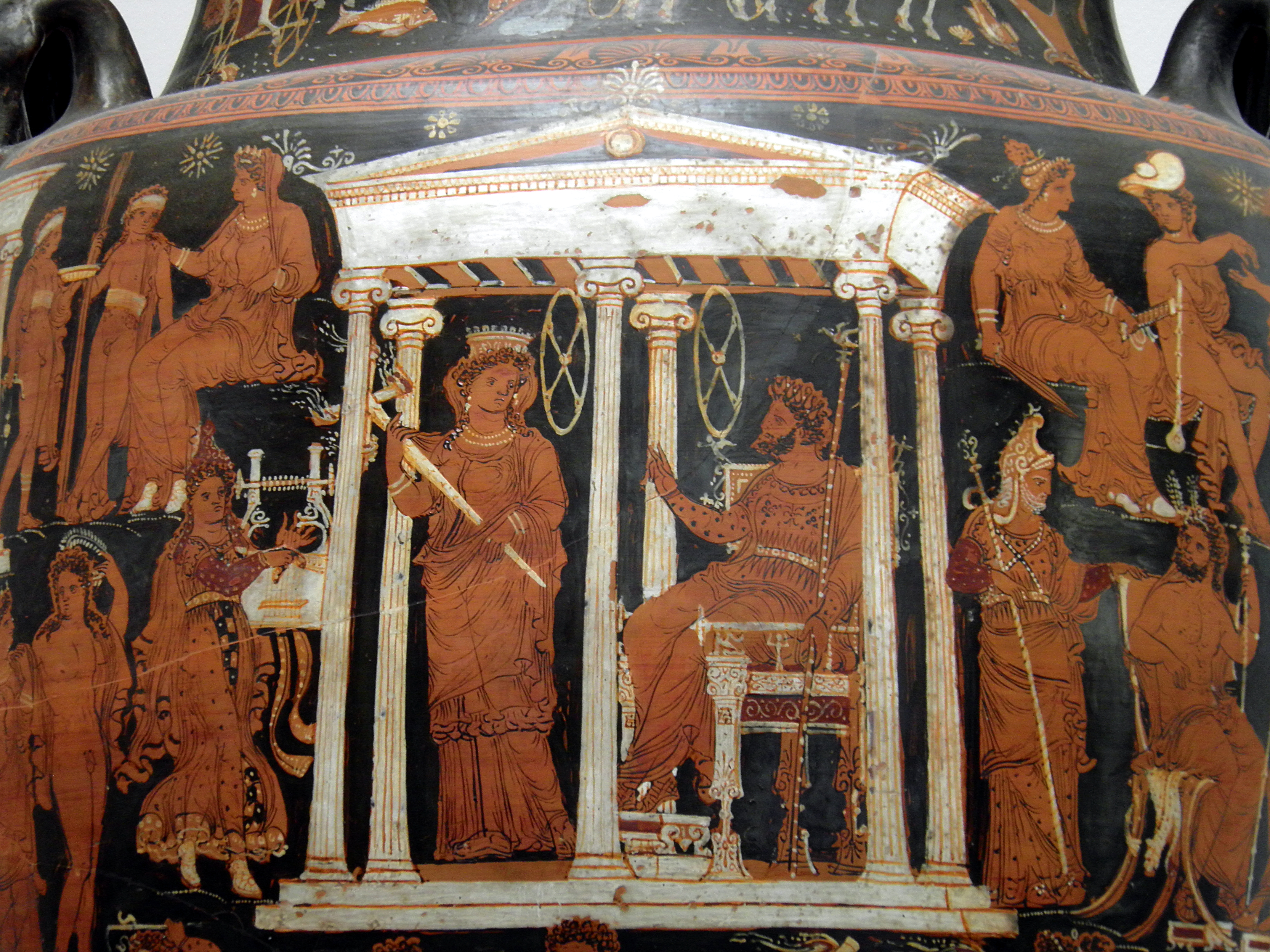 fileapulian redfigured volute krater with scenes of the