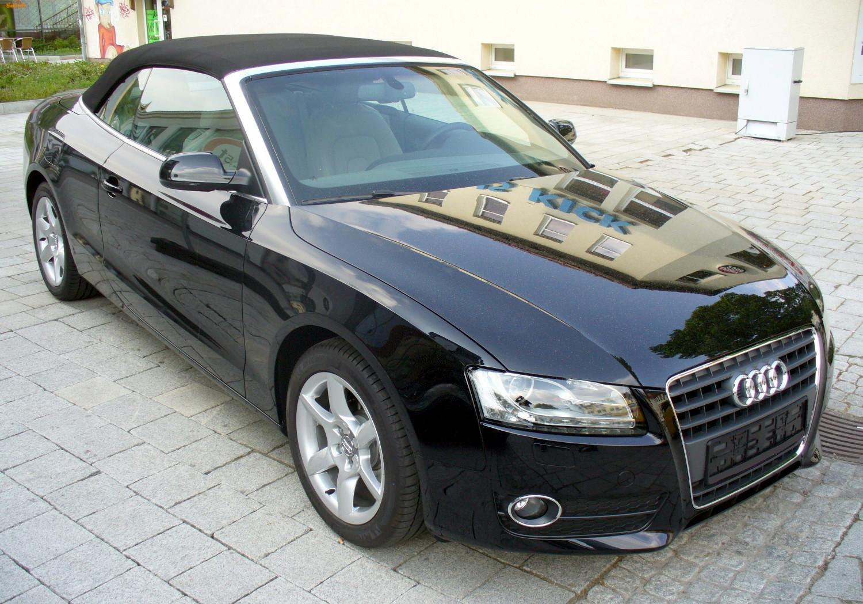 File Audi A5 Cabrio 2 0 Tfsi Phantomschwarz Jpg