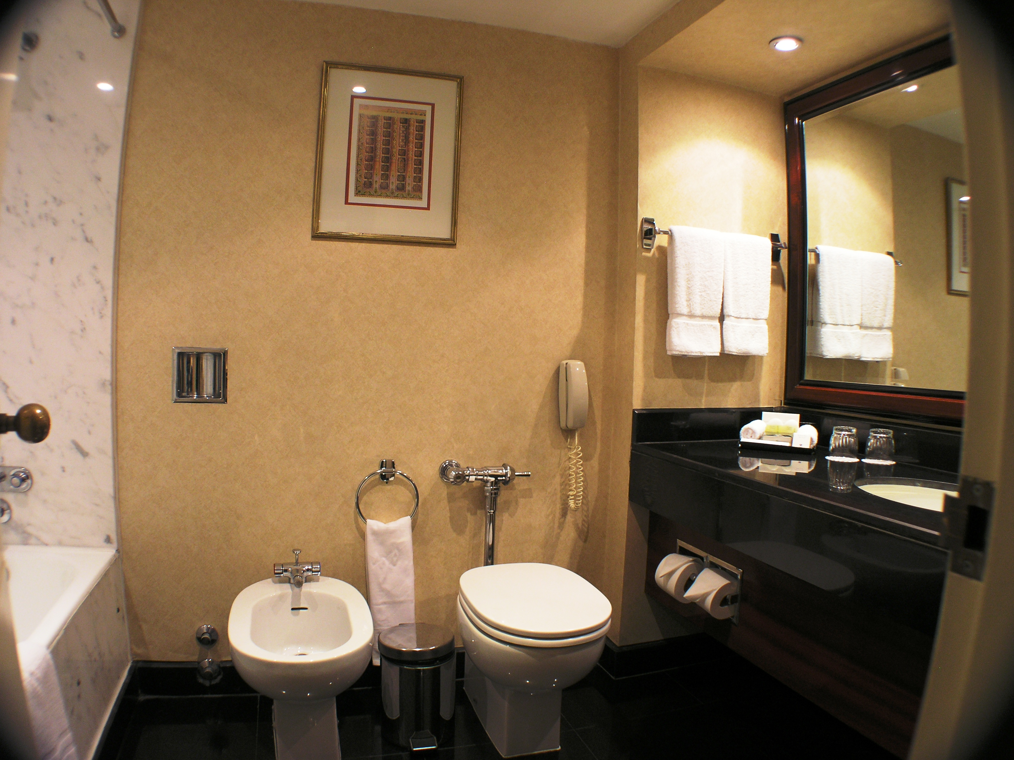File bathroom in suite at semiramis intercontinental hotel for Bathroom room accessories