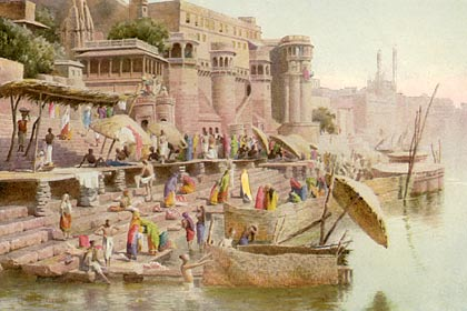 Painting of Benares in 1890.