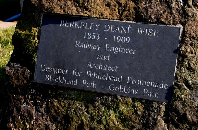 Berkeley Deane Wise plaque, Whitehead - geograph.org.uk - 1746685