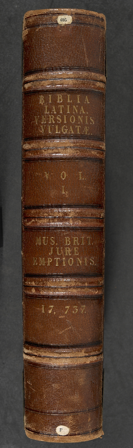 File:Bible ('The Floreffe Bible'), vol  I - Spine (Add ms