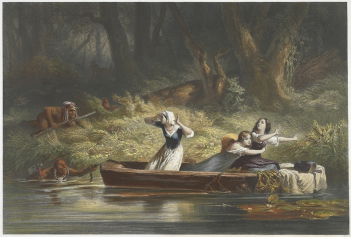 File:Capture of the Daughters of Daniel Boone and Richard Callaway by the Indians by Karl Bodmer.jpeg