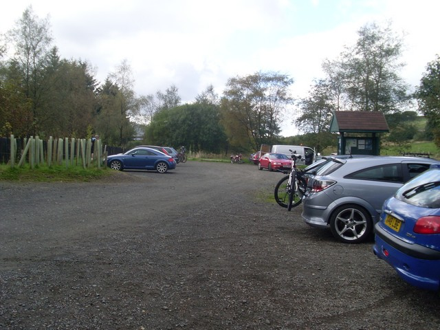 Car park at Carron Valley Forest - geograph.org.uk - 1497803