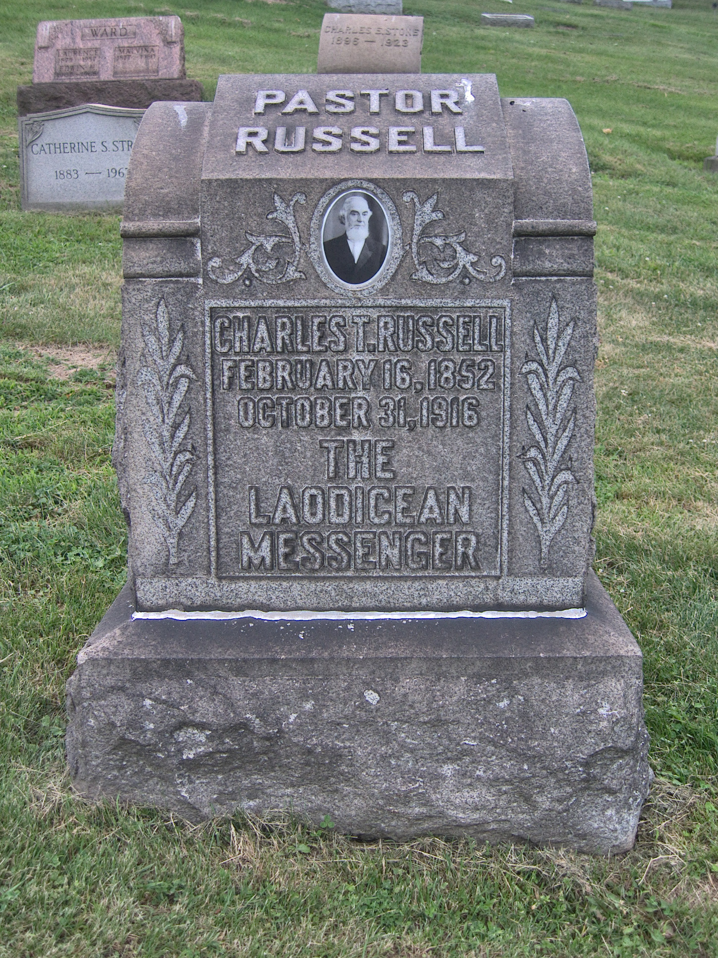 Charles Taze Russell Grave and Pyramid, Rosemont, Mt  Hope