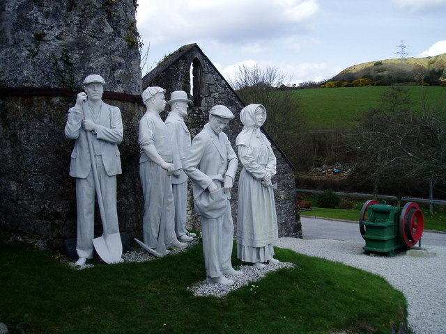 China Clay Sculpture Wheal Martyn Museum,St Austell - geograph.org.uk - 366016