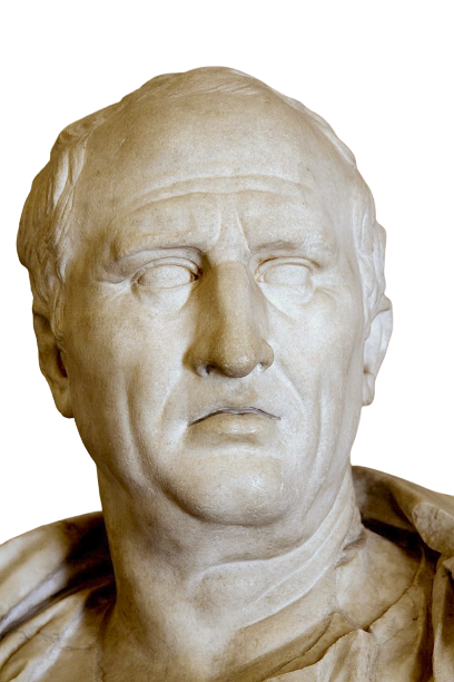 First-century AD bust of Cicero in the [[Capitoline Museums]], Rome