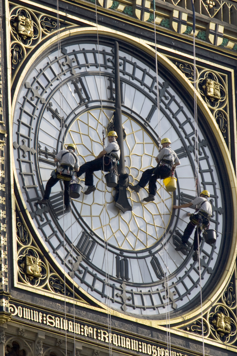 Nettoyage de l'horloge de Big Ben à Westminster, Londres - Photo de Photoo