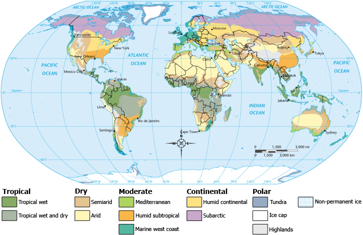 Online Maps World Climate Map
