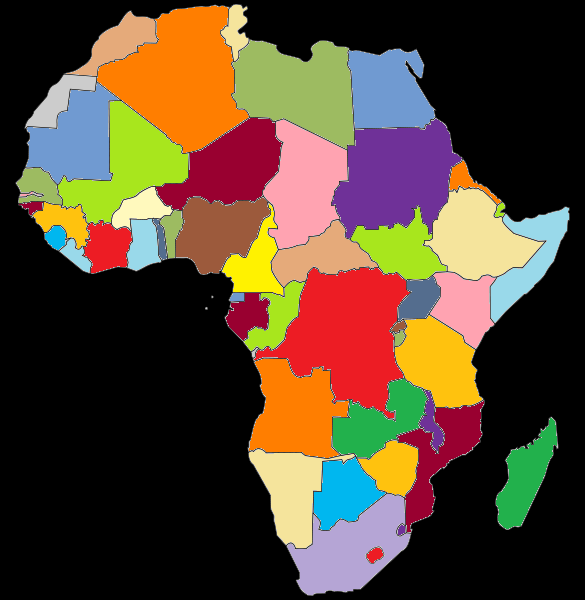 Worksheet. FileColored map of Africapng  Wikimedia Commons