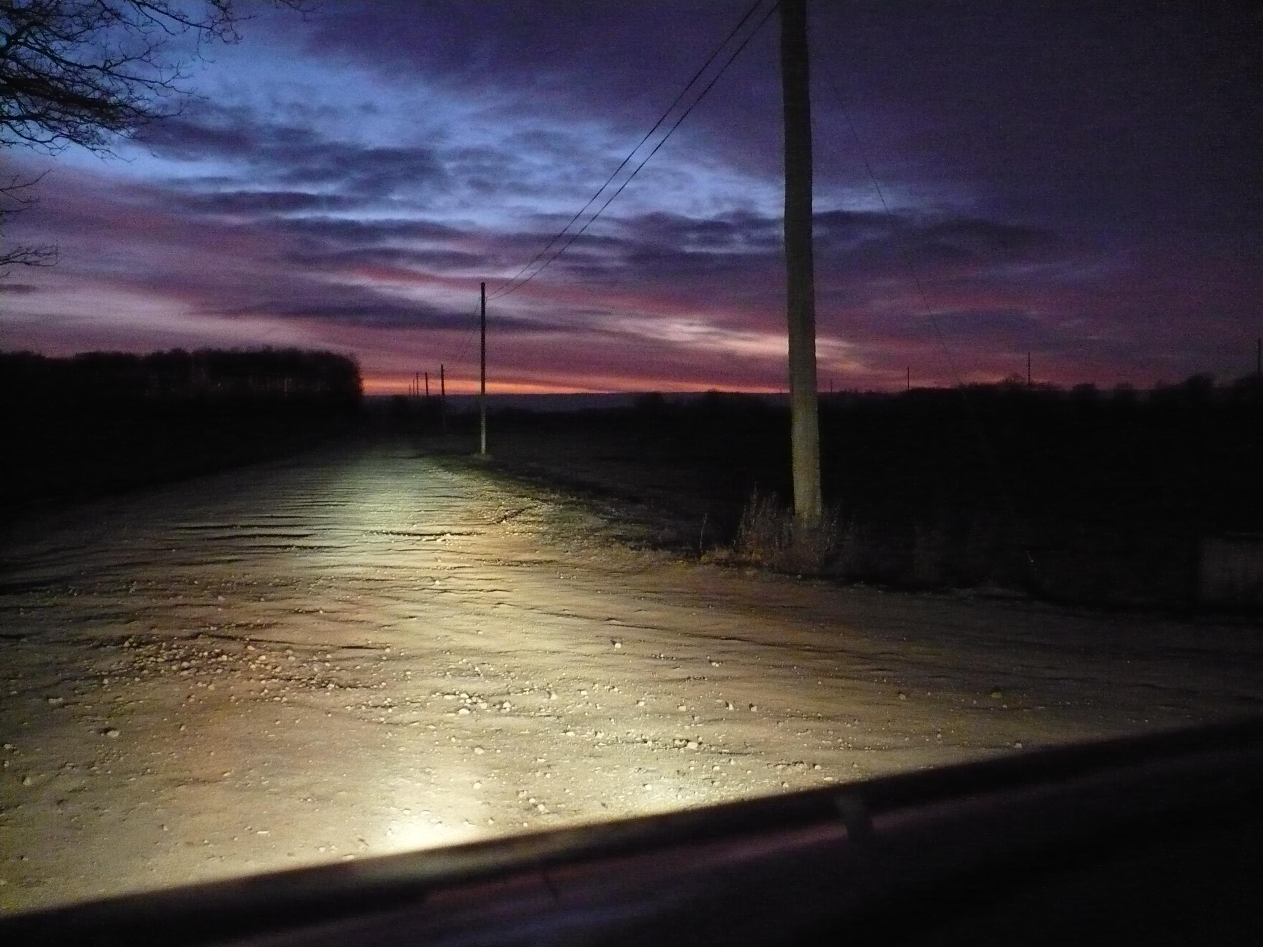 FileCountry Road At Night