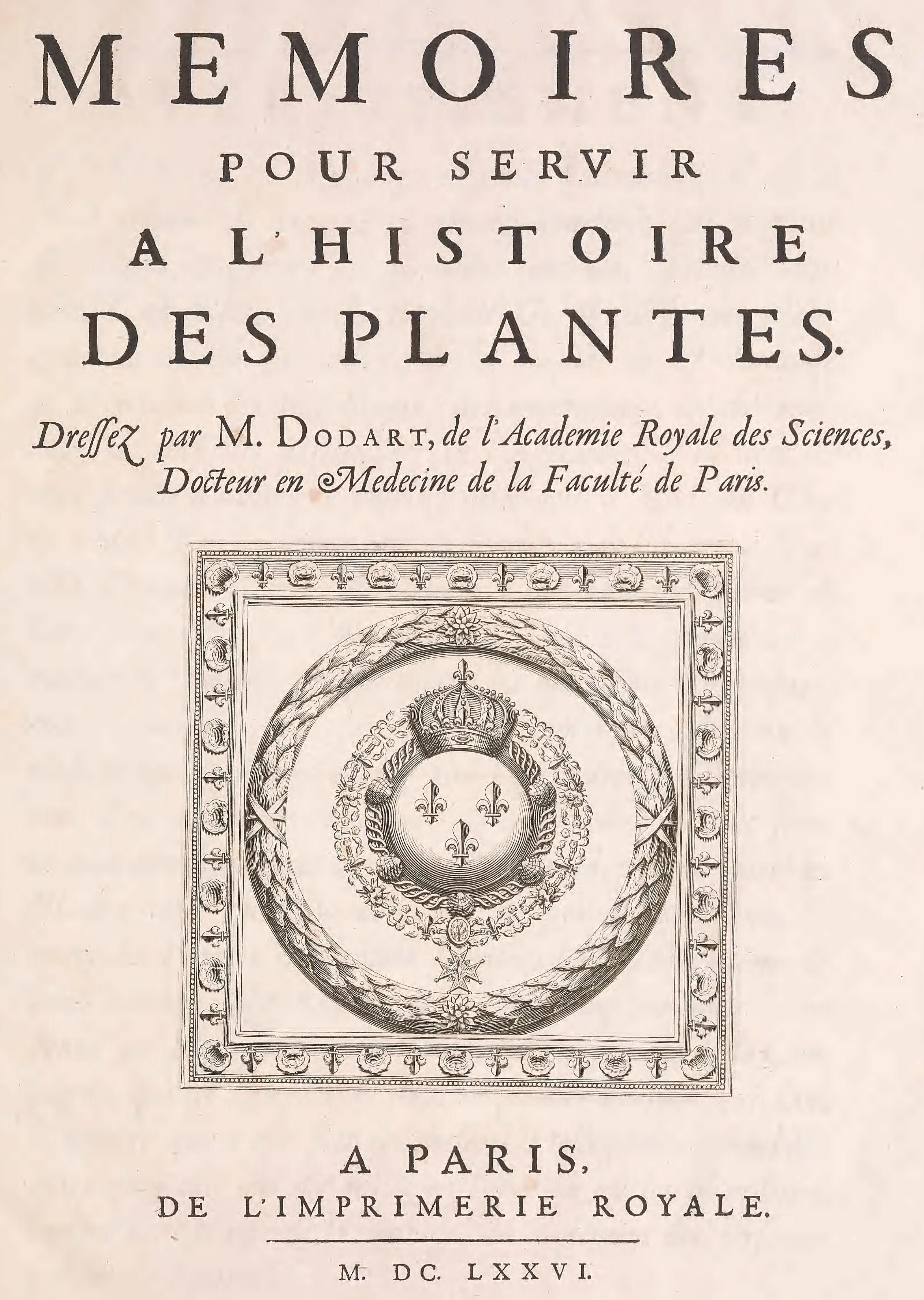 M moires pour servir l 39 histoire des plantes wikip dia for Catalogue de plantes