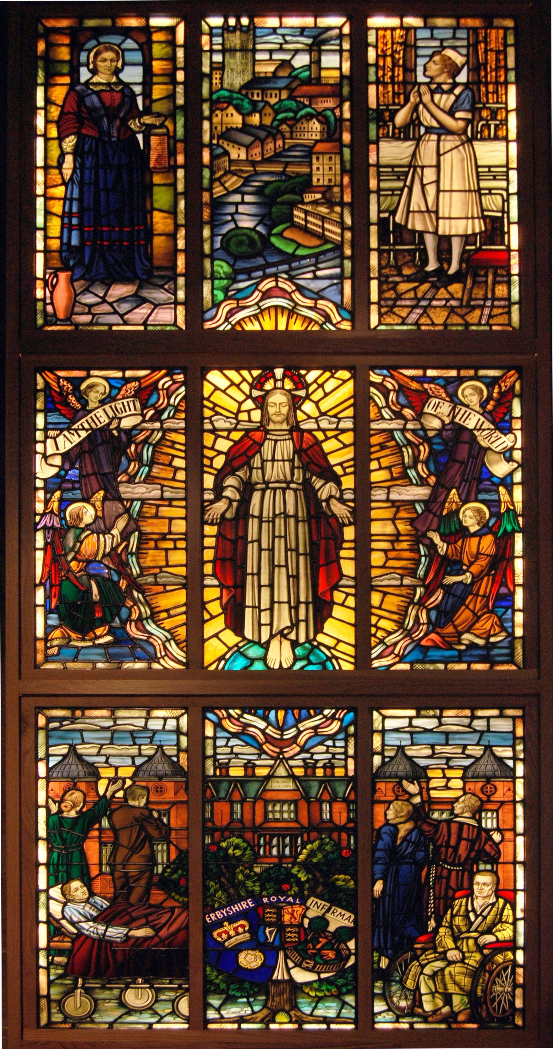 Florence nightingale biography nurse statistician for Make your own stained glass window film