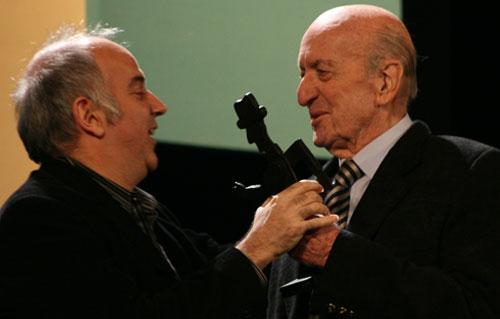 Esteban Morgado y Eduardo Falú (derecha).
