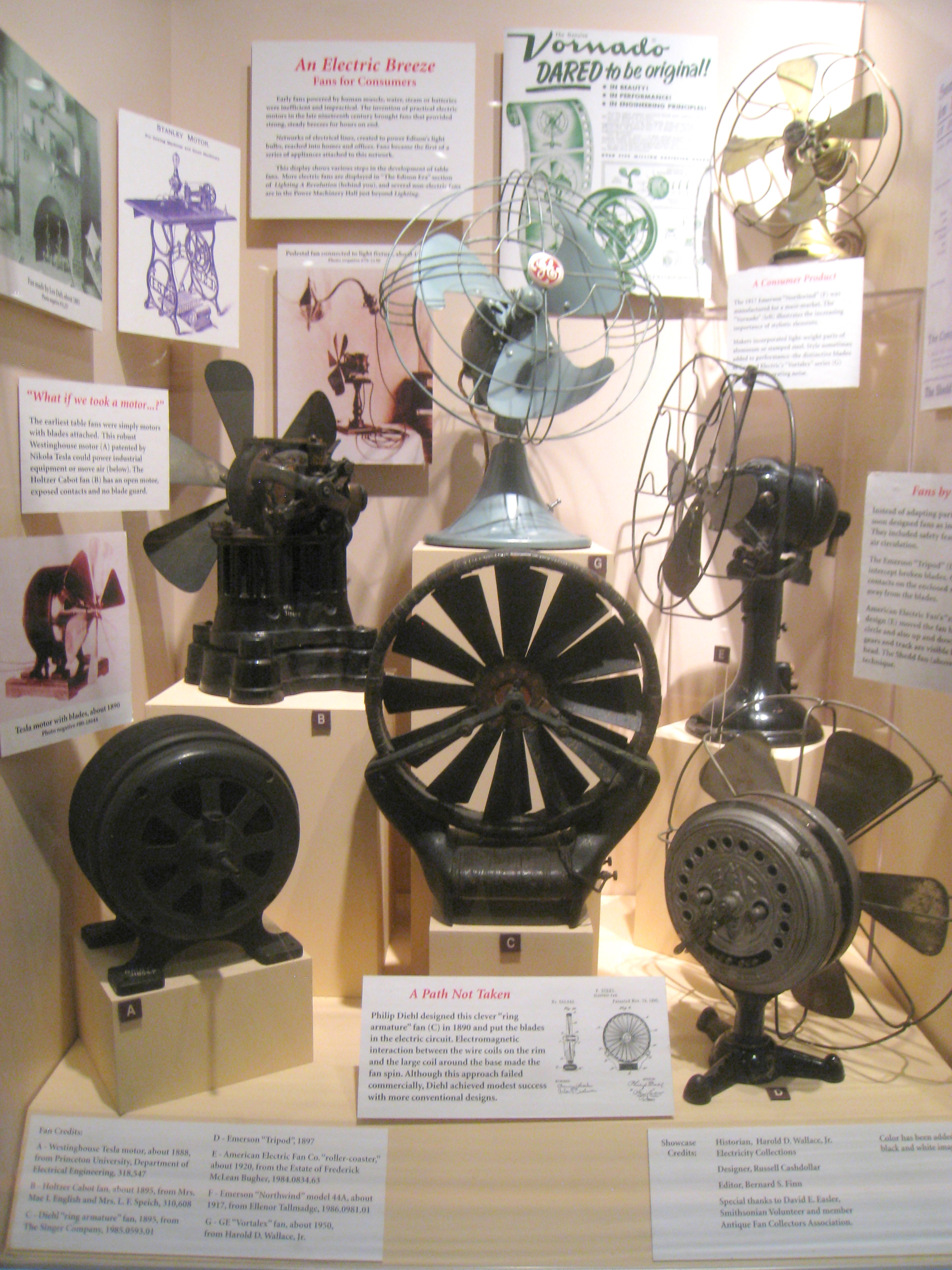 History About The Electric Fan : File electric fans national museum of american history