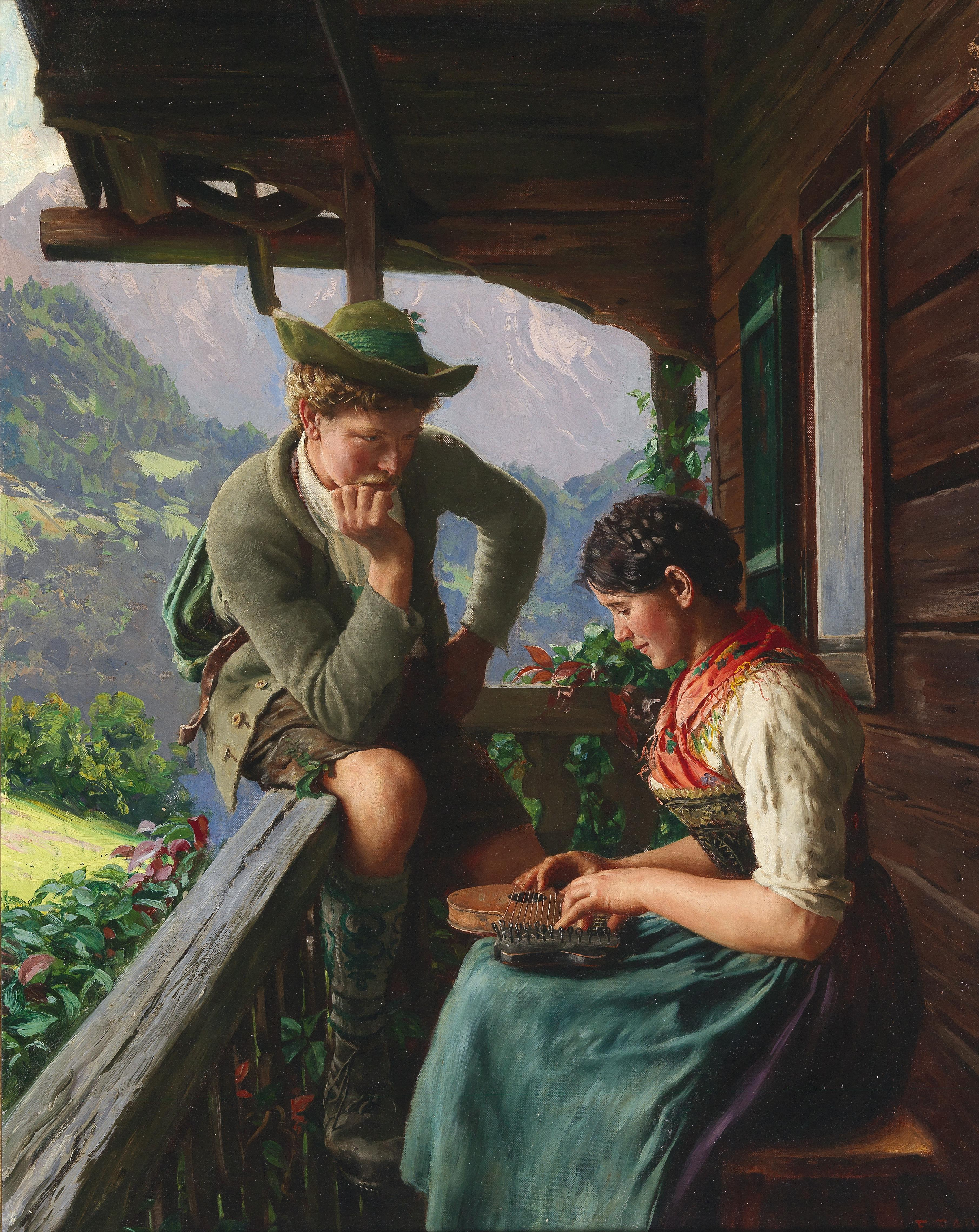 Best depictions of music in paintings: Emil Rau, The Serenade, ca. 1937,  private collection. Dorotheum.