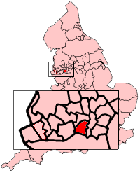 Trafford shown within England
