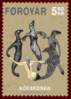 Faroese stamp 579 the seal woman