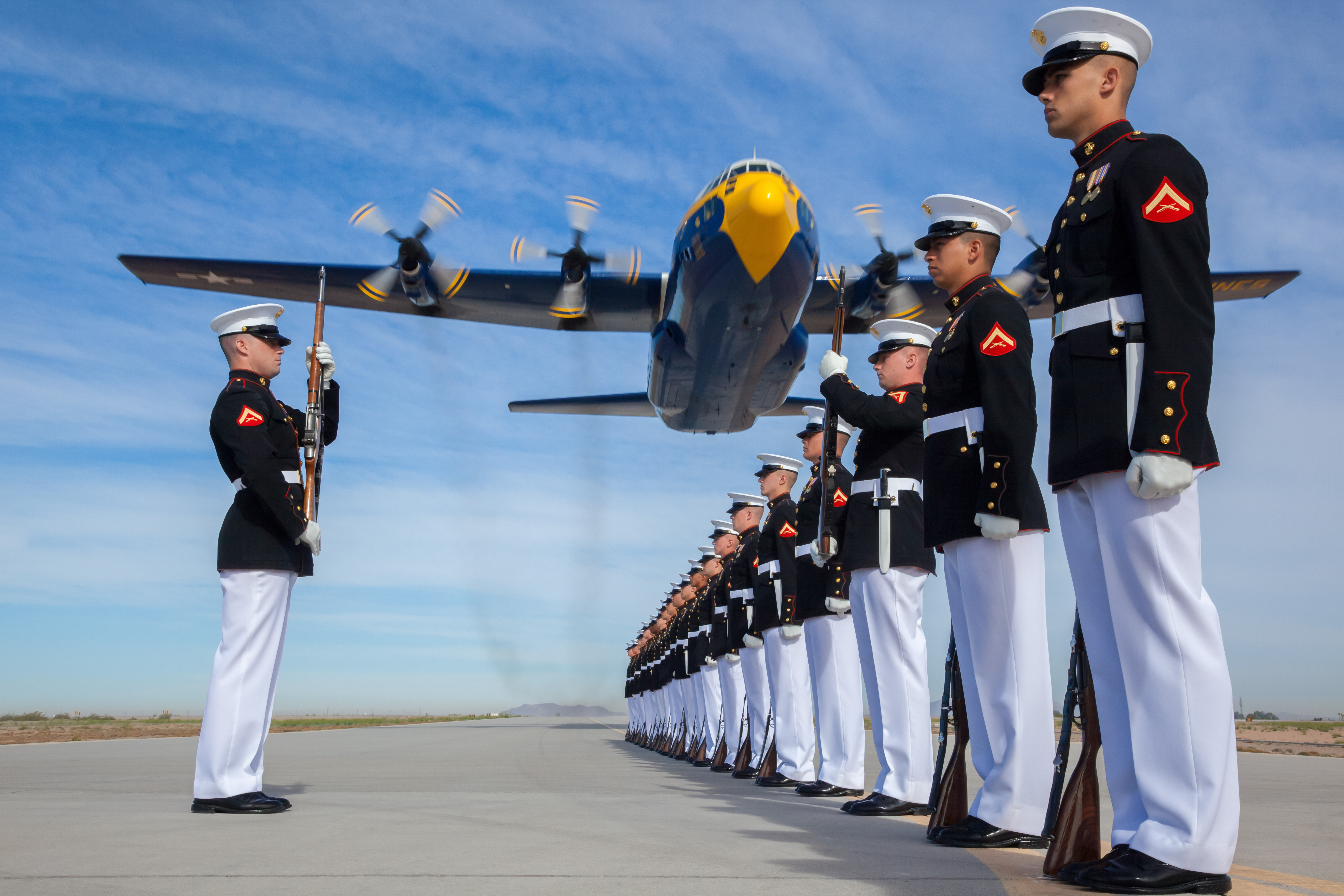 Marine precision drill team