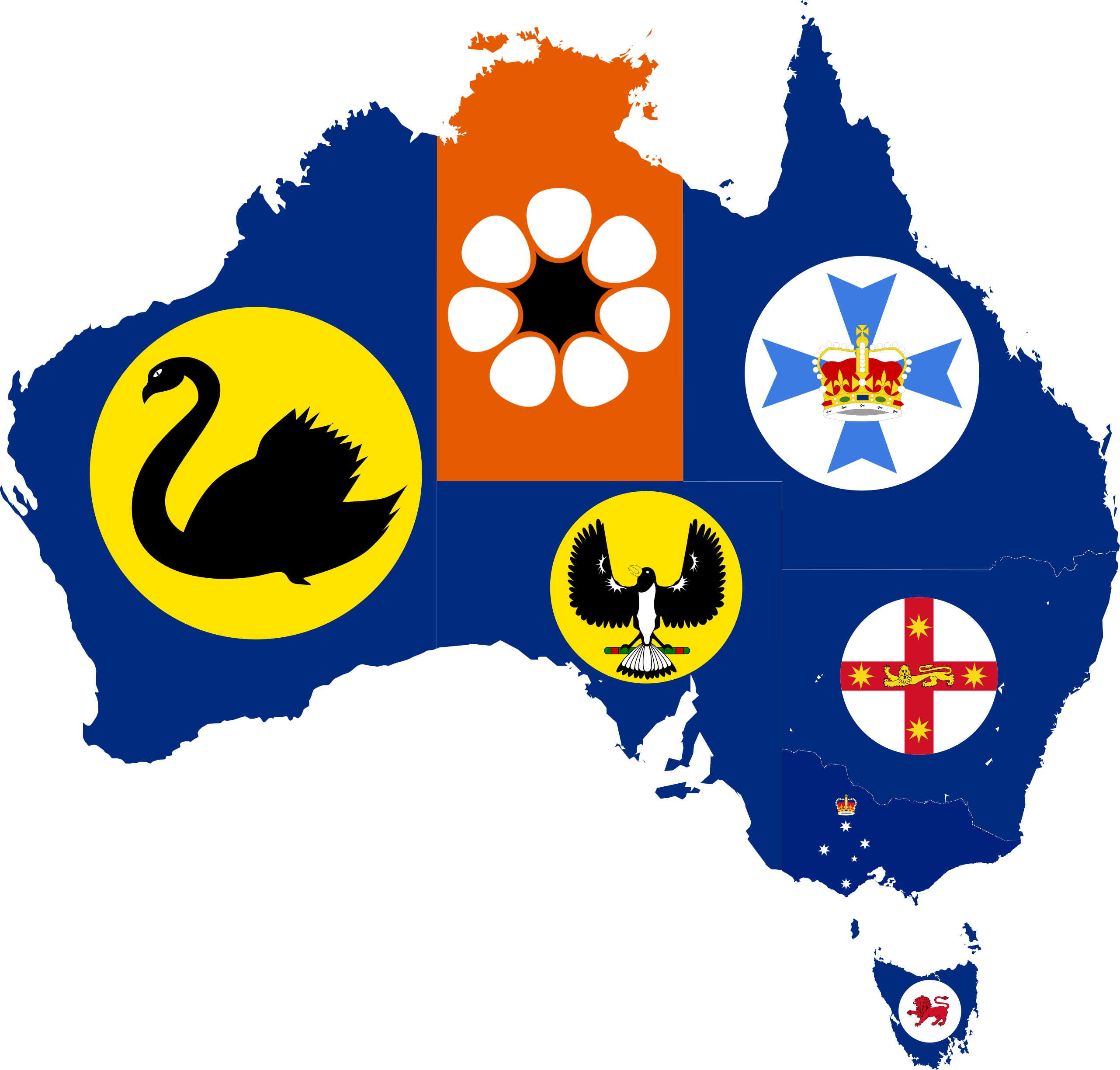 Map Of States Of Australia.File Flag Map Of States And Territories Of Australia Png Wikimedia