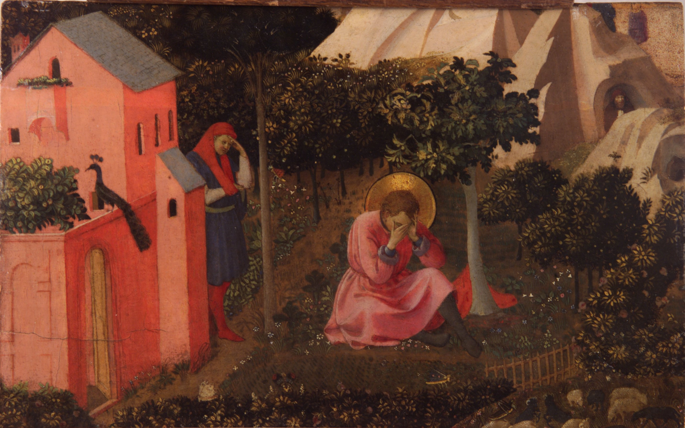 """Fra angelico - conversion de saint augustin"" by Fra Angelico (circa 1395–1455) and workshop - Unknown. Licensed under Public Domain via Commons."