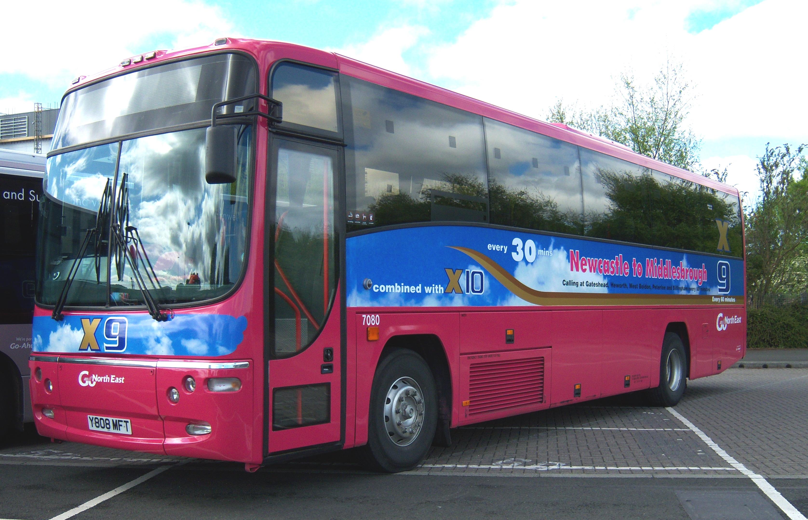 File Go North East Coach 7080 Volvo B10m Plaxton Y808 Mft
