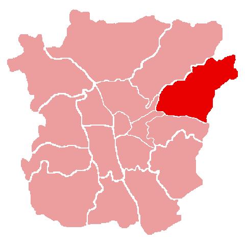 Lage des Bezirks Ries