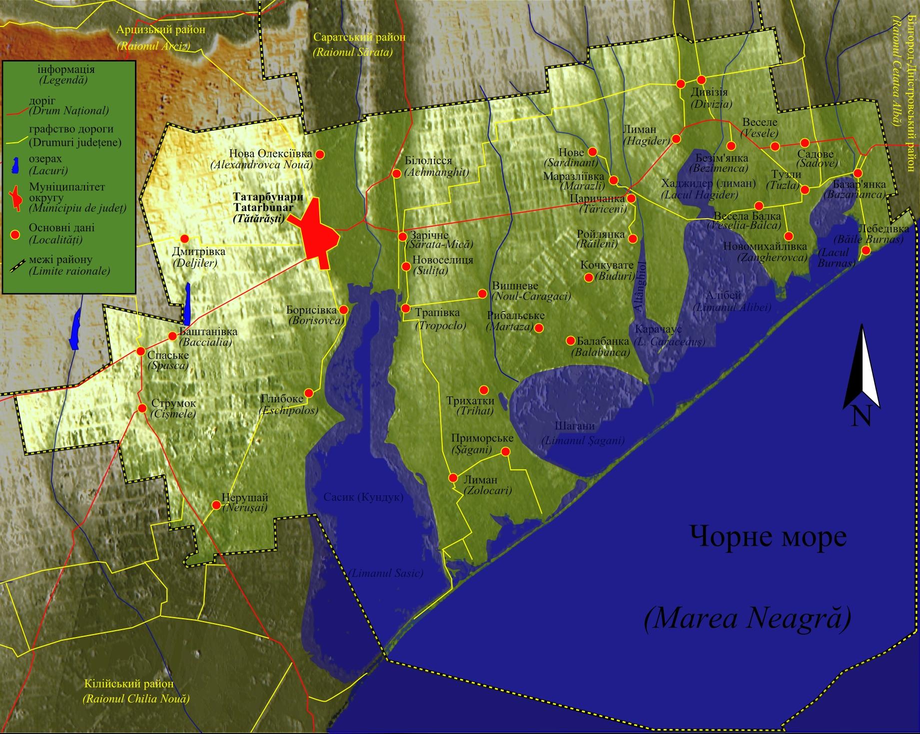 File Harta Raionului Tatarbunar Ucraina Jpg Wikimedia Commons