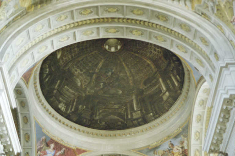 Painted dome at Church of St Ignatius, Rome