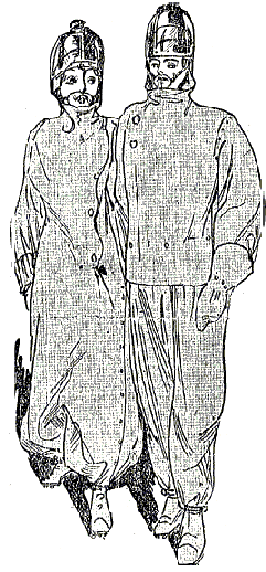 Illustration Schutzanzug Elektrosmog 1911