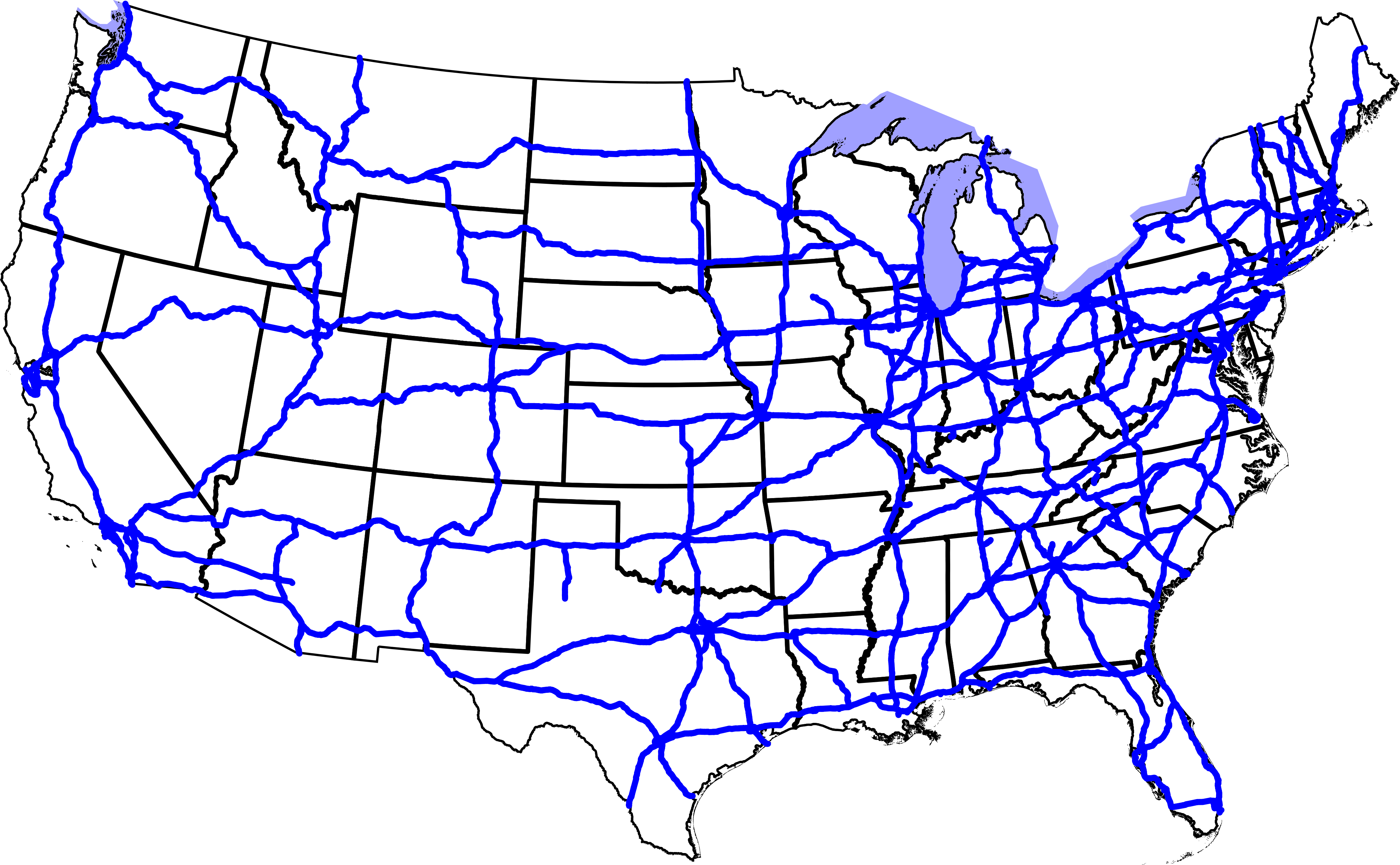 Us Map Interstate
