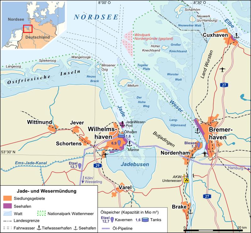 jadebusen karte Jadebusen – Wikipedia