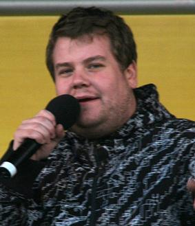 James Corden at a BBC Radio Wales roadshow.