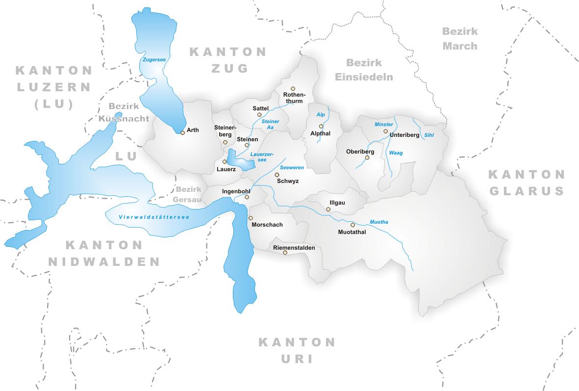 FileKarte Gemeinden des Bezirks Schwyzpng Wikimedia Commons
