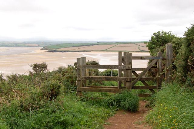 Kissing gate on coastpath near Stepper Point - geograph.org.uk - 1466373