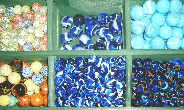 Making toys and the variety of marbles