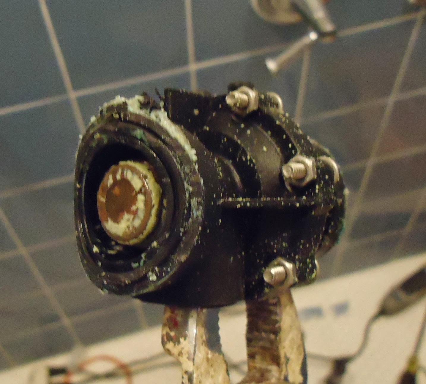 filekohler shower valve replacement old diverter with buildup being removedjpg