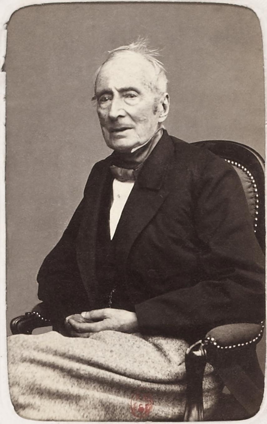Alphonse de Lamartine, hacia 1865.