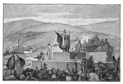 Bild einer Kreuzzugspredigt