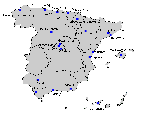 Club Foot Espagne Carte.Fichier Liga 2009 10 Png Wikipedia