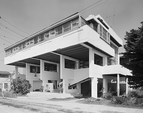 Rudolf Schindler's Lovell Beach House, West Ocean Front, Newport Beach, Orange County, California